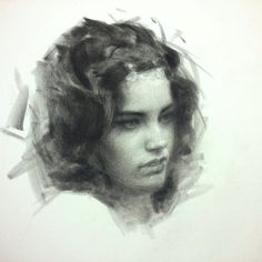 lipking:    I'm using a combination of black PanPastel and compressed charcoal pencil on paper. (at The studio)