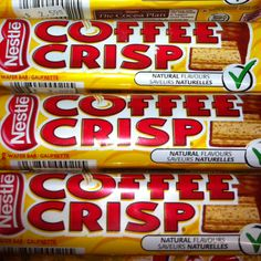 Make sure to pick up some Coffee Crisp before heading into the US, as they don't have it there.