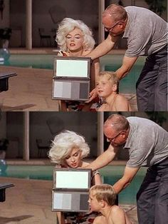 "Marilyn Monroe on the set of ""Something's Got To Give"" 1962"