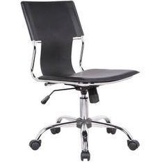 Ebern Designs Sardina Cheetah Task Chair | Wayfair Adjustable Office Chair, Swivel Office Chair, Ergonomic Office Chair, Desk And Chair Set, Desk Chair, Black Office Chair, Simple Desk, Office Furniture Design, Chair Height