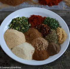 Jamaican Jerk Seasoning - Save money and make your own homemade Jamaican Jerk Spice, it is quick to put together and can be easily costumized for personal preference. Jamaican Cuisine, Jamaican Dishes, Jamaican Recipes, Jamaican Jerk Sauce, Jamaican Jerk Seasoning, Homemade Spices, Homemade Seasonings, Jerk Recipe, Gastronomia