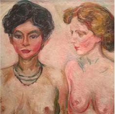 edvard munch kunstdruck: doppelportrait (blond und schwarz)
