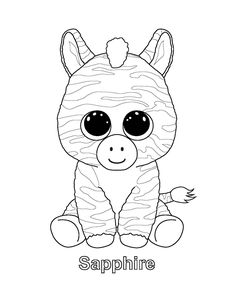 ty big eye coloring pages | Pinky the Owl TY Beanie Boo | Projects to Try | Pinterest ...