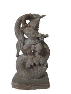 Lord Krishna Dancing on Snake Hood Carved Stone Statue 3 Inch by Mogul Interior, http://www.amazon.com/gp/product/B007TGKAQW/ref=cm_sw_r_pi_alp_lWDCqb1JH2Q2J