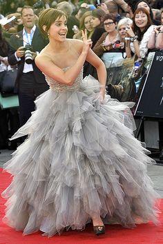 Emma Watson's skirt looks like a storm cloud. I like it!