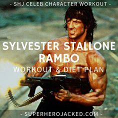 Sylvester Stallone Workout Routine and Diet: Train like Rocky Balboa, Rambo, and an Absolute Legend – Superhero Jacked Hero Workouts, Weight Training Workouts, Body Weight Training, Full Body Workout Routine, Workout Diet Plan, Leg Raises Abs, Sylvester Stallone Rambo, Celebrity Workout, Celebrity Diets