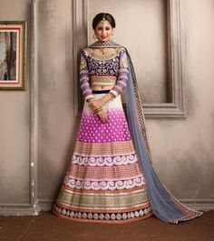 Purple Net Wedding Lehenga Choli 59624