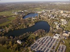 // Campus Tour // University of Notre Dame, IN, USA // St. Mary's Lake (foreground) & St. Joseph's Lake