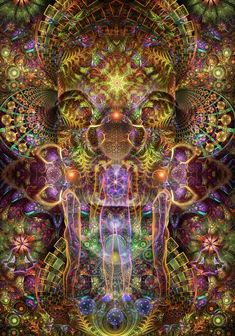 50 Best Creative Visionary Digital and Fractal Art Images - TheDesignBlitz Psychedelic Art, Psychedelic Experience, Art Visionnaire, Cosmic Egg, Alex Grey, Psy Art, Mystique, Visionary Art, Sacred Art