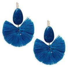 Beaded Tassel Earrings Beaded Tassel Earrings, Blue Earrings, Statement Earrings, Drop Earrings, Summer Essentials, Tassels, Vintage Jewelry, Fancy, Womens Fashion