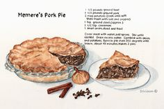 """Memere's Pork Pie recipe"" - we'll see how close it comes to MY Memere's!"