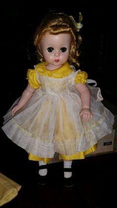 "Vintage Madame Alexander ""Lissy"" Doll w/tagged dress from 1956-1958 MIB BKW"