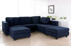 navy blue sectional | Download HERE >> Dark Blue Sectional Sofa