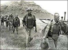 Soviet rangers in Afghanistan.