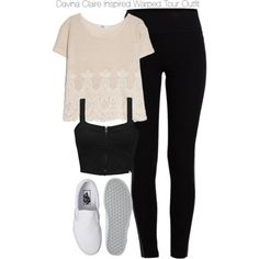 Davina Claire Inspired Warped Tour Outfit by staystronng on Polyvore featuring polyvore, fashion, style, MANGO, Element, Pieces, Vans, to, festival and DavinaClaire