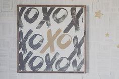 XO Wooden Sign