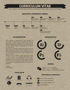 Resume / Curriculum Vitae by Javiera Pradenas, via Behance