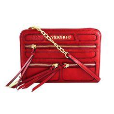Bolsa Carteira Ziper Vermelha