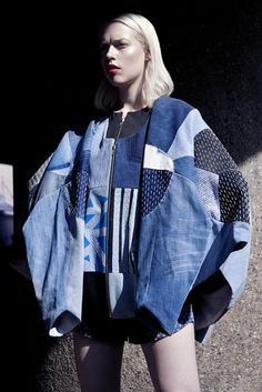Elina Priha varsity SS15 collection from recycled denim