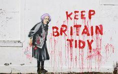 Banksy  https://www.facebook.com/pages/Art-of-street/144938735644793?fref=ts