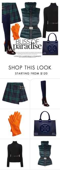 """""""Green blue"""" by camilika ❤ liked on Polyvore featuring Burberry, Jil Sander, Mark & Graham, Tory Burch, Dsquared2 and Moncler"""
