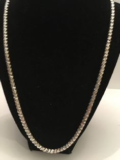 """Milor Sterling Silver Chain Necklace 22"""" Italy 40 Grams  