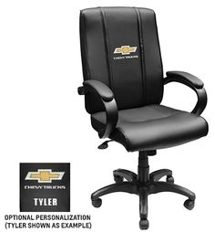 """We'd personalize it with """"frenchcreekmedical.com"""" Chevy Trucks Office Chair - for the president's desk at French Creek Medical? Maybe get a few for visitors at the future French Creek Medical lobby?"""