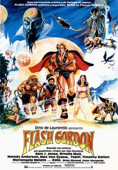 Man, there was a lot of promotional and advertising art created to sell Dino de Laurentis' Flash Gordon movie in the various world . Science Fiction, Fiction Movies, Max Von Sydow, Flash Gordon, Cinema Movies, Sci Fi Movies, Indie Movies, Romantic Comedy Movies, Martial Arts Movies