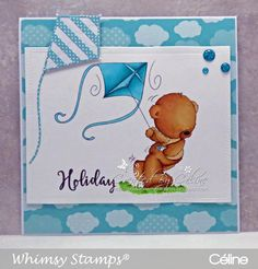 """This is Day 2 of a two day hop to celebrate the tenth 30 Day Coloring Challenge. Have you heard of """"The Daily Marker's 30 Day. Whimsy Stamps, 30 Day, Winnie The Pooh, Markers, Coloring, Card Making, Challenges, Paper Crafts, Celine"""
