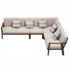 Sectional Sofa, Couch, Outdoor Lounge, Outdoor Decor, Cushions, Pillows, Sofa Set, Wicker, Relax