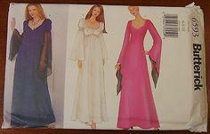 Butterick PATTERN 6593 ~ 3 Medieval ~ Gothic ~ Renaissance Gown Styles Sz 6 8 10
