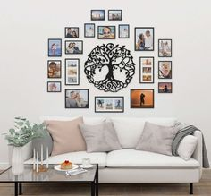 Family Tree Wall, Gallery Wall, Wall Decor, Living Room, Frame, Home Decor, Kitchen Ideas, Spaces, Decoration
