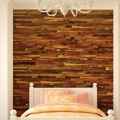Albero Valley Lodge Natural Wood Wall Paneling in Haystack Stick On Wood Wall, Peel And Stick Wood, Vinyl Wall Panels, Wood Panel Walls, Plank Walls, Cheap Interior Wall Paneling, Hickory Wood, Reclaimed Barn Wood, Wood Pieces