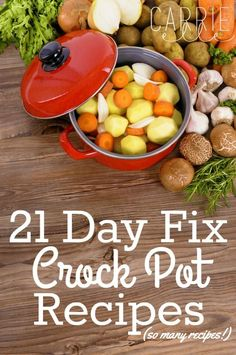 Here are more than twenty 21 Day Fix crock pot recipes to get your going! Day Fix Recipes Lasagna) Here are more than twenty 21 Day Fix crock pot recipes to get your going! Day Fix Recipes Lasagna) 21 Day Fix Diet, 21 Day Fix Meal Plan, Clean Eating Recipes, Healthy Eating, Healthy Recipes, Clean Eating Crock Pot Meals, Healthy Crock Pot Meals, Fixate Recipes, Vegetarian Recipes