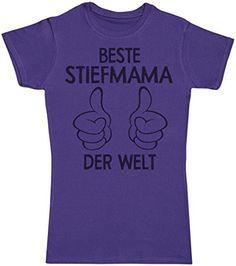 Beste Stiefmama der welt thumbs – Geschenke für Mapa – Muttertag – Mutter T  Shirt – Damen T-Shirt für Mutter – Violett – Large 5a592e5a2b