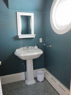 Powder Room w/ Benjamin Moore Fair Isle Blue