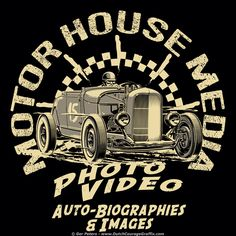 Motor House Media Roaring Roadster T-shirt #automotive #logo #illustration #artwork