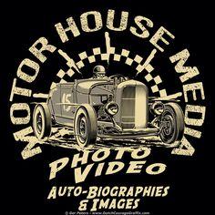 Motor House Media Roaring Roadster T-shirt #automotive #logo #illustration #artwork