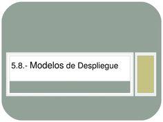 Materia: Gestión Estratégica.Tema: 5.8 Modelos de Despliegue, exposición.