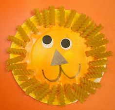 Lion made with pasta - VBS foR preschool