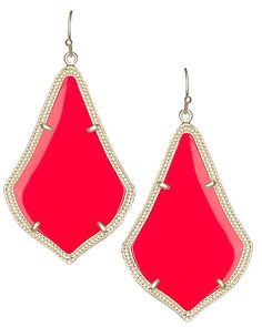 Kendra Scott Earrings - pop of bright red