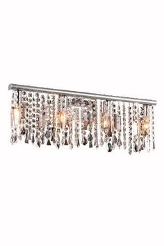 """3200 Harmony Collection Wall Lamp D: 23"""" H: 9.5"""" Lt: 4 Chrome (Royal Cut Crystal). 3200 Harmony Collection Wall Lamp D: 23"""" H: 9.5"""" Lt: 4 Chrome (Royal Cut Crystal)  Watts: Lumens: Lamp Type: Shape: Style:Contemporary Light Bulbs:4 Bulb Type:E12 Bulb Wattage:40 Max Wattage:160 Voltage:110V-125V Finish:Chrome Crystal Trim:Royal Cut Crystal Color:Crystal (Clear) Hanging Weight:6"""