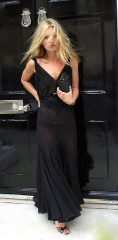 Kate Moss, on her way to a party at Sam Taylor-Wood's house, 2005.