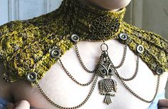 Ravelry: Hardware Heaven - Statement Neck piece pattern by Sarah jane amazing crochet also available spats and wrist warmers in same steampunk style