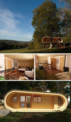 Slice of Paradise: Crafty Cabin Looks Like a Giant Cut Log | Designs & Ideas on Dornob