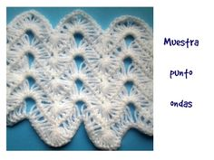 punto ondas a crochet - YouTube
