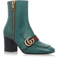 Gucci Peyton Ankle Boots 75 ($940) ❤ liked on Polyvore featuring shoes, boots, ankle booties, red boots, gucci, gucci bootie, gucci booties and gucci boots