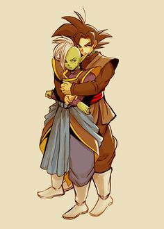 Zamasu and Black Goku