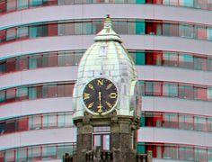 https://flic.kr/p/KbDbiC | Hotel New-York Rotterdam 3D | Kop van Zuid   World Port center anaglyph stereo red/cyan