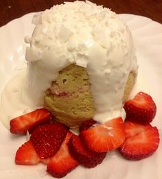 Fresh, Fit, and Fancy.: Strawberry Shortcake Casein Protein Mug Cake